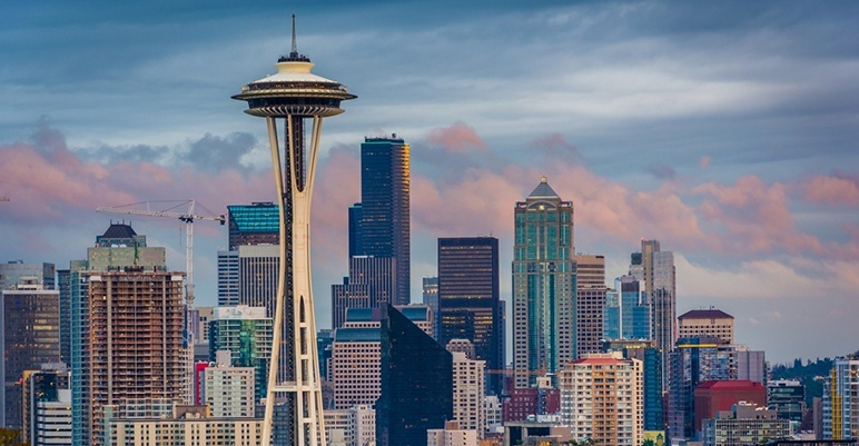 View of the Seattle skyline from Kerry Park in Seattle, Washington